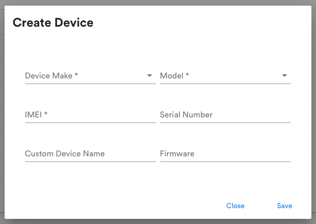 Create a new device